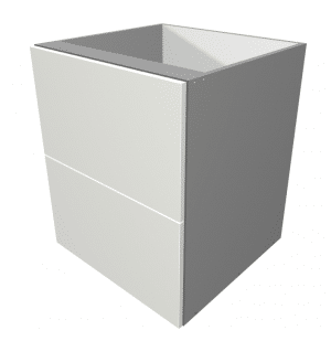 Laminex - 2 Drawer Base Cabinet