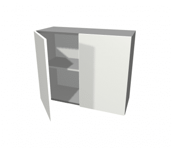 2 Pack - 2 Door Wall Cabinet