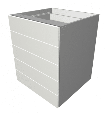 Laminex - 5 Equal Drawer Base Cabinet