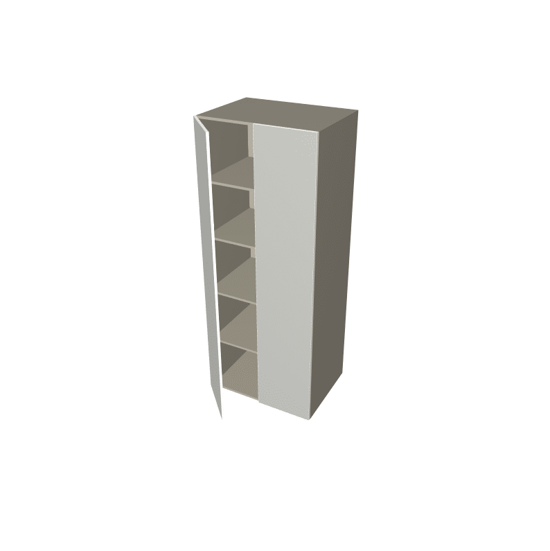 2 Pack - Tall 2 Door Pantry Cabinet