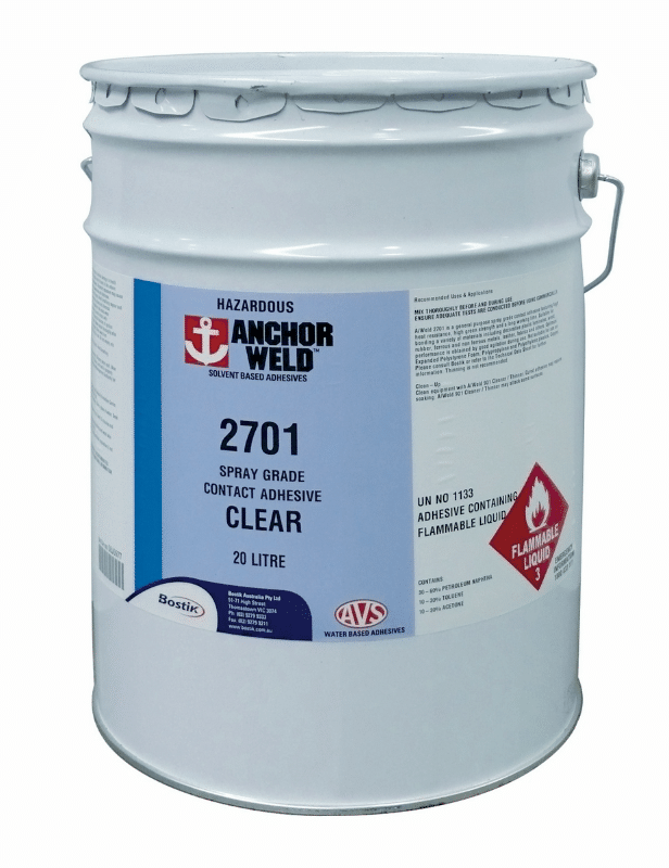 Adhesive - Spray Contact 2700 - AnchorWeld Super Red 20L