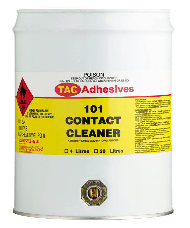 Thinner - Adhesive TAC Contact Cleaner - 20 Litre Drum