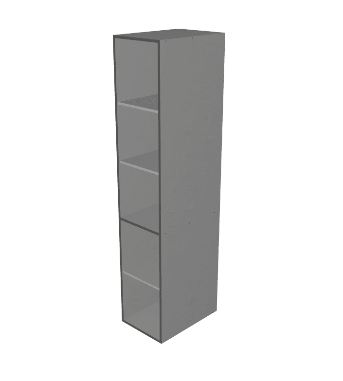 Budget - Tall Wardrobe Open Cabinet