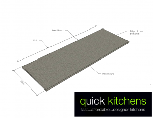 Formica Benchtop B – 900mm Cut to Size