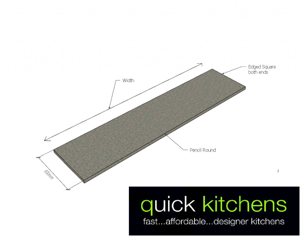 Formica Benchtop A - 600mm Cut to Size