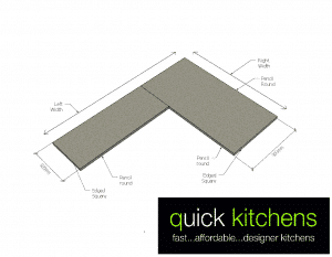 Formica Benchtop E - L-Shape (600/900 Right)