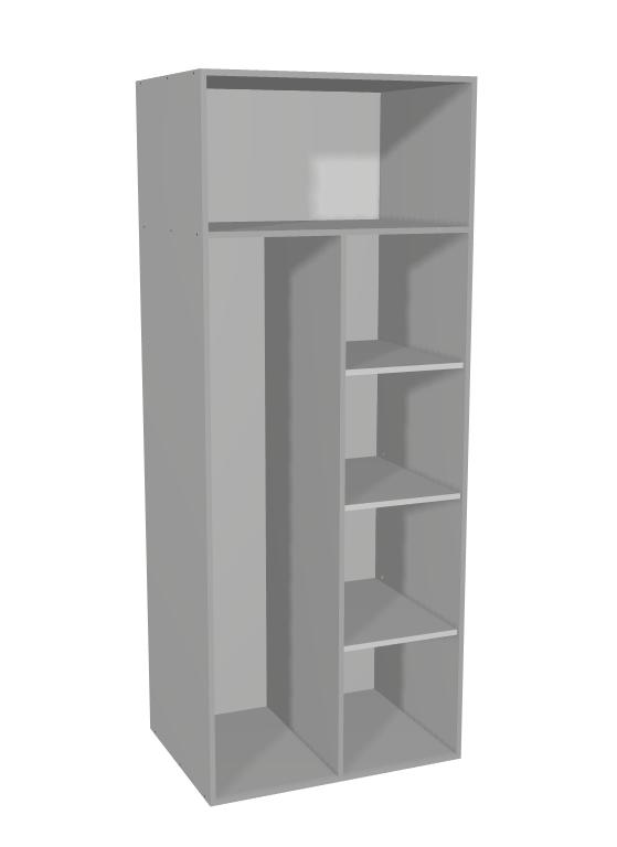 Budget - Tall 2 Door Broom Cabinet