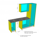 Flat pack Kitchen measurements