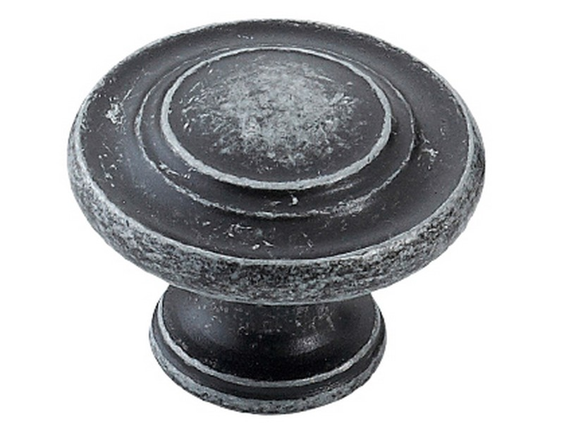 Florencia Concentric Knob Charcoal