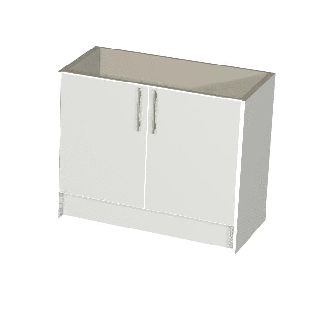 White Gloss - 2 Door Vanity Package